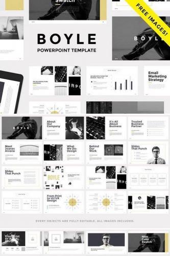 BOYLE - Minimal Powerpoint Template