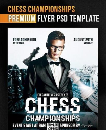Chess Championships Flyer PSD Template