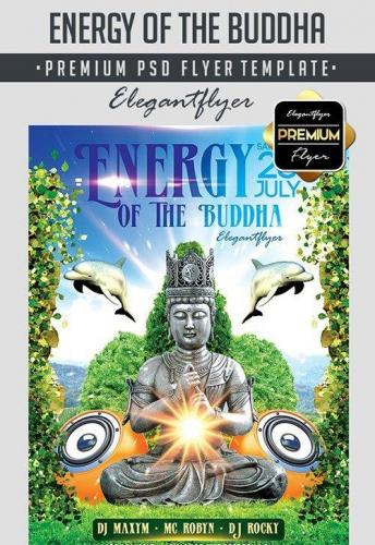Energy Of The Buddha Flyer PSD Template