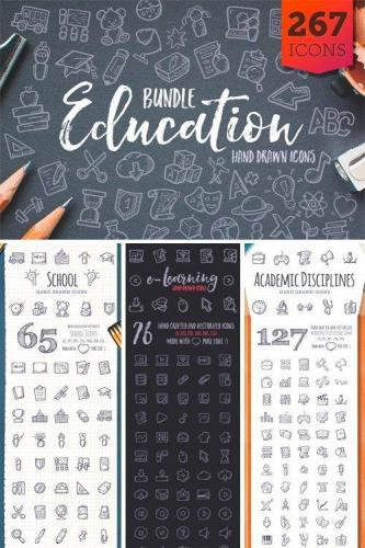Education Bundle Hand Drawn Icons