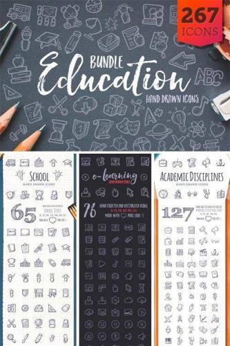 Education Bundle Hand Drawn Icons