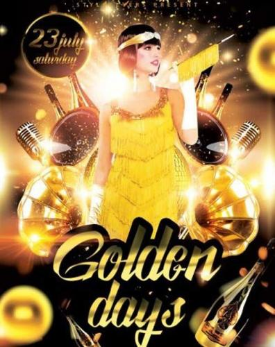 Golden Days PSD Flyer Template