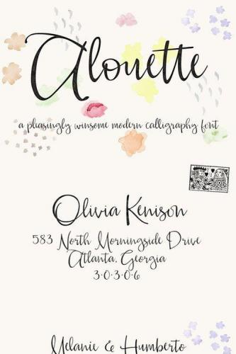 Alouette Modern Calligraphy Font