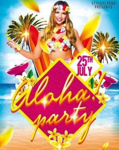 Aloha Party V1 PSD Flyer Template