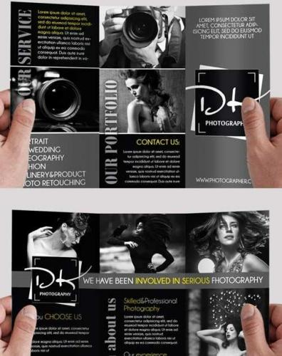 Modern Photography PSD Tri-Fold PSD Brochure Template