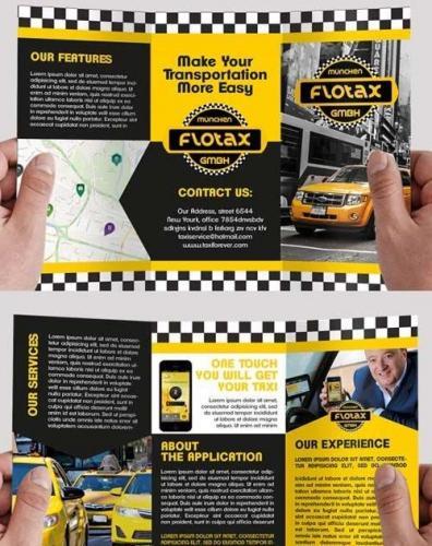 Taxi Service V1 Premium Tri-Fold PSD Brochure