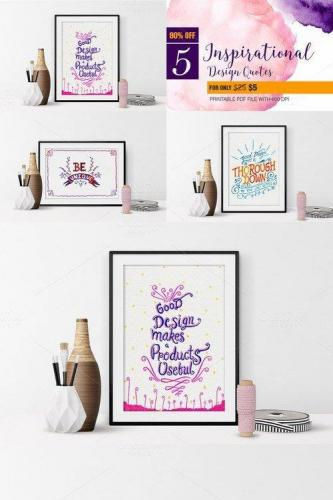 Inspirational Design Quote Poster