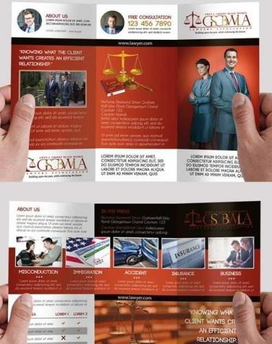 Lawyer Premium Tri-Fold PSD Brochure Template