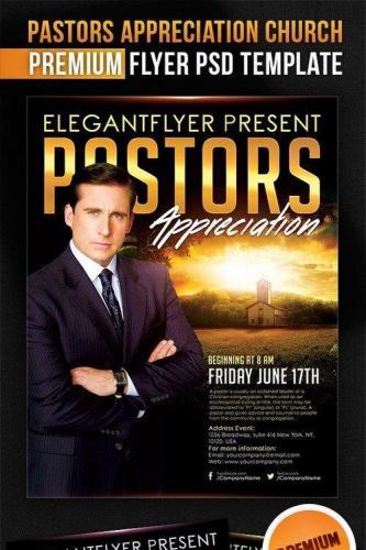 Pastors Appreciation Church Flyer PSD Template