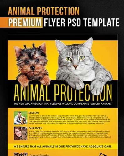 Animal Protection Flyer PSD Template