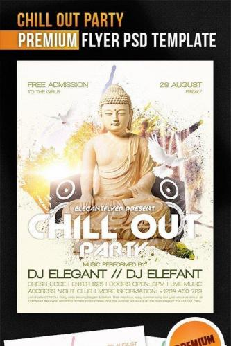 Chill Out Party Flyer PSD Template