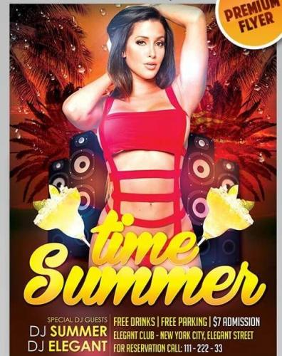 Summer Time V3 Flyer PSD Template