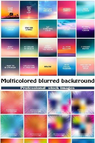 Multicolored blurred background set