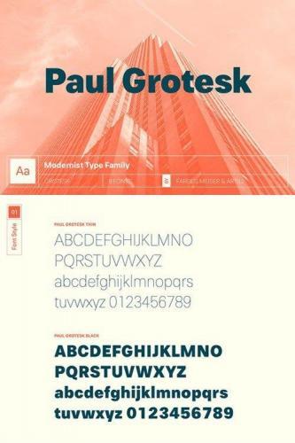 Paul Grotesk Typeface