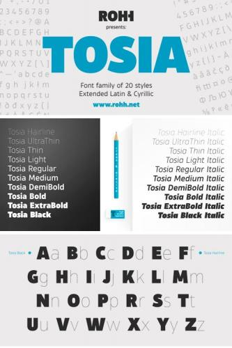Tosia Font Family