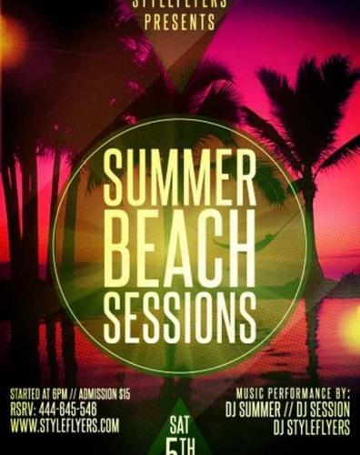 Summer Beach Sessions PSD Flyer Template