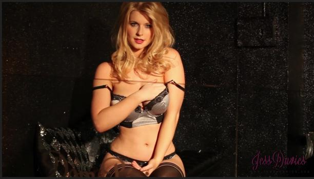 Socialglamour.com- Jess Davies in sexy lingerie  stockings