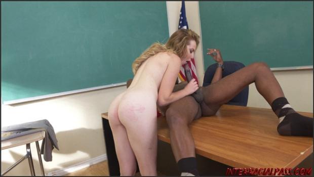 Interracialpass.com-  Horny Schoolgirl Britney Light Take BBC In Detention