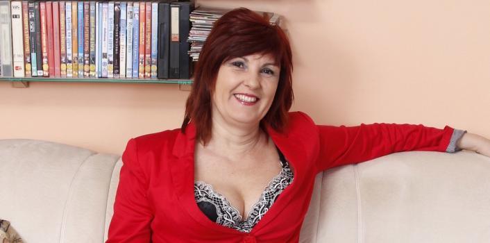 Mature.nl- Horny redhead MILF seduces innocent young boy